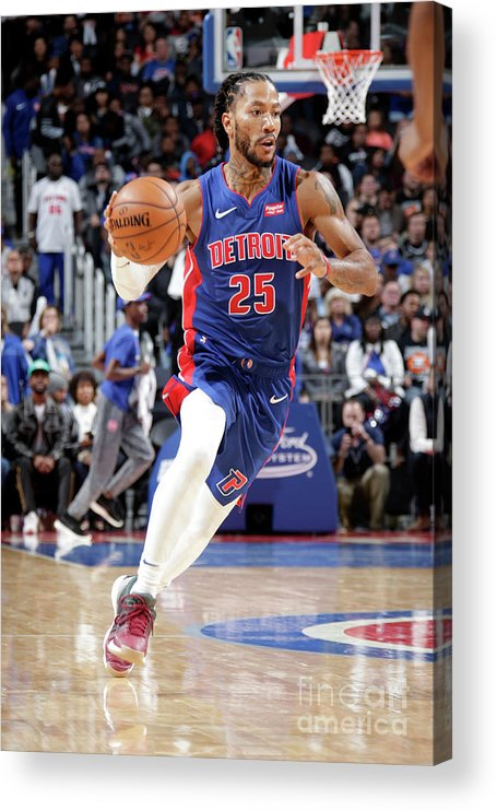 Nba Pro Basketball Acrylic Print featuring the photograph Derrick Rose by Brian Sevald