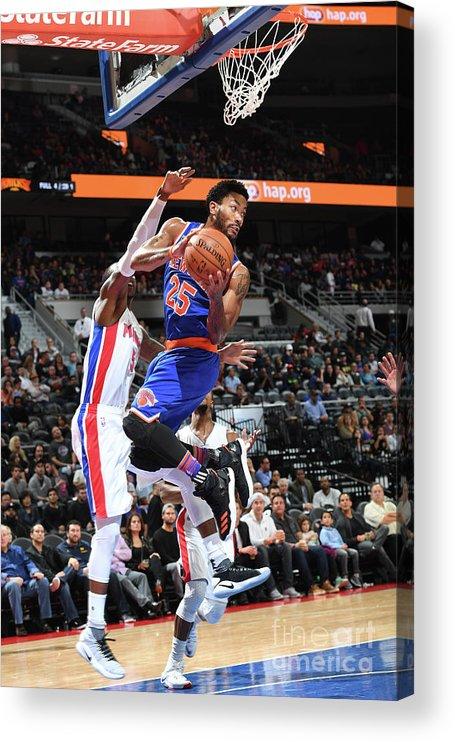 Nba Pro Basketball Acrylic Print featuring the photograph Derrick Rose by Chris Schwegler
