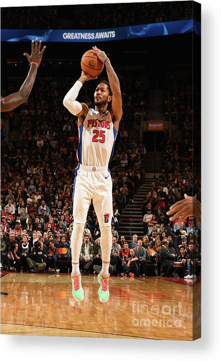 Nba Pro Basketball Acrylic Print featuring the photograph Derrick Rose by Ron Turenne