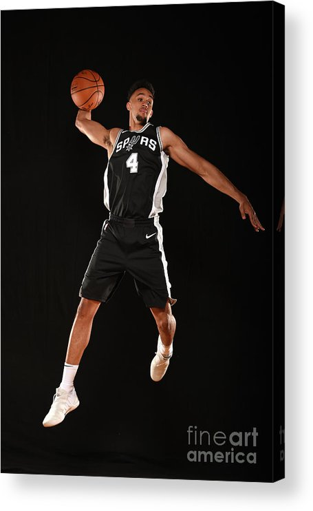 Nba Pro Basketball Acrylic Print featuring the photograph Derrick White by Brian Babineau