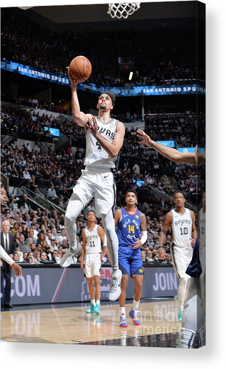 Playoffs Acrylic Print featuring the photograph Derrick White by Mark Sobhani