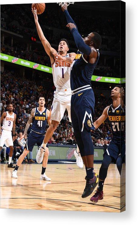 Nba Pro Basketball Acrylic Print featuring the photograph Devin Booker by Garrett Ellwood