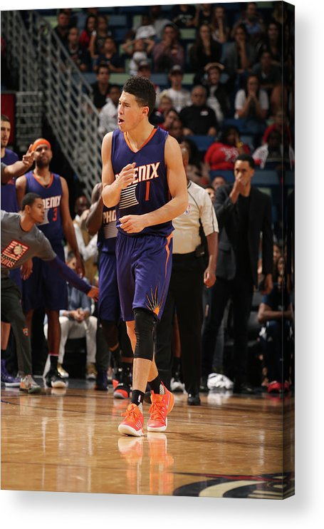 Smoothie King Center Acrylic Print featuring the photograph Devin Booker by Layne Murdoch