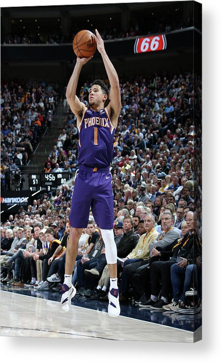 Nba Pro Basketball Acrylic Print featuring the photograph Devin Booker by Melissa Majchrzak