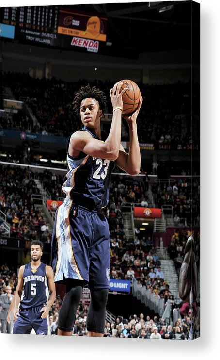 Nba Pro Basketball Acrylic Print featuring the photograph Deyonta Davis by David Liam Kyle
