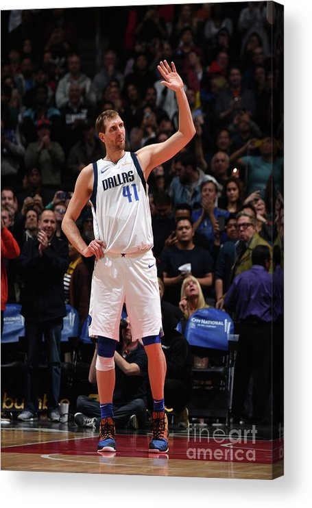 Crowd Acrylic Print featuring the photograph Dirk Nowitzki by Adam Pantozzi