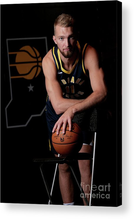 Media Day Acrylic Print featuring the photograph Domantas Sabonis by Ron Hoskins