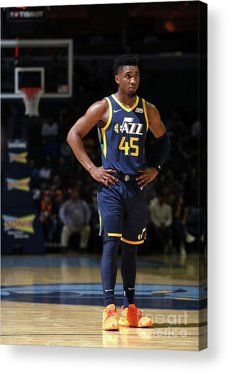 Nba Pro Basketball Acrylic Print featuring the photograph Donovan Mitchell by Joe Murphy
