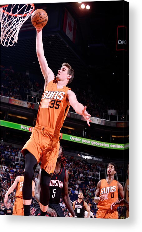 Nba Pro Basketball Acrylic Print featuring the photograph Dragan Bender by Barry Gossage