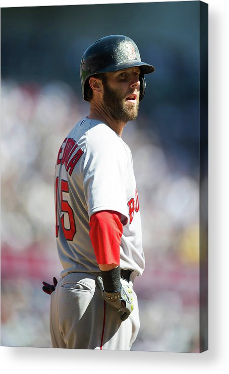 East Acrylic Print featuring the photograph Dustin Pedroia by Rob Tringali