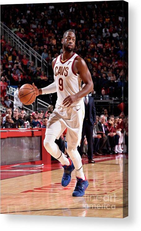 Nba Pro Basketball Acrylic Print featuring the photograph Dwyane Wade by Bill Baptist