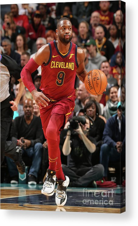 Nba Pro Basketball Acrylic Print featuring the photograph Dwyane Wade by Kent Smith