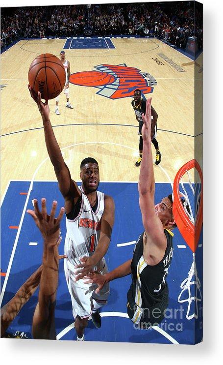 Nba Pro Basketball Acrylic Print featuring the photograph Emmanuel Mudiay by Nathaniel S. Butler
