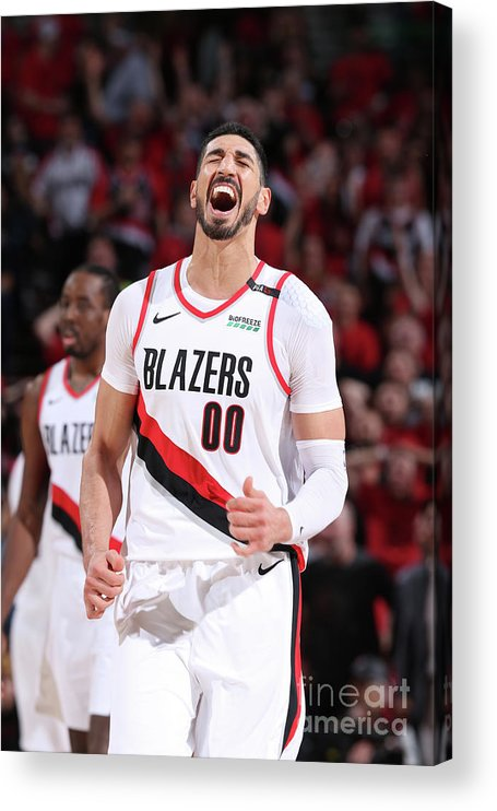 Playoffs Acrylic Print featuring the photograph Enes Kanter by Sam Forencich