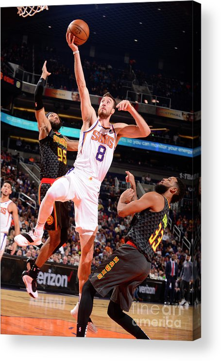Nba Pro Basketball Acrylic Print featuring the photograph Frank Kaminsky by Barry Gossage