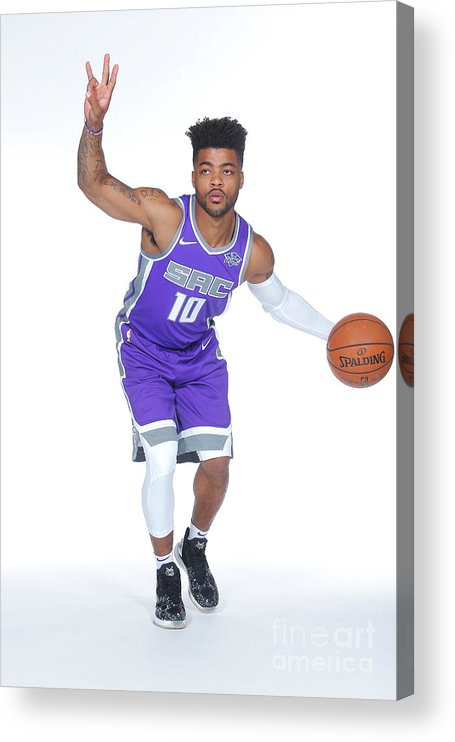 Media Day Acrylic Print featuring the photograph Frank Mason by Rocky Widner