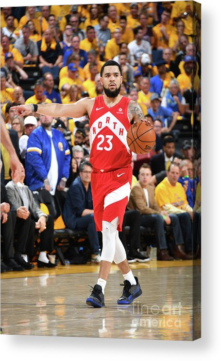 Playoffs Acrylic Print featuring the photograph Fred Vanvleet by Andrew D. Bernstein