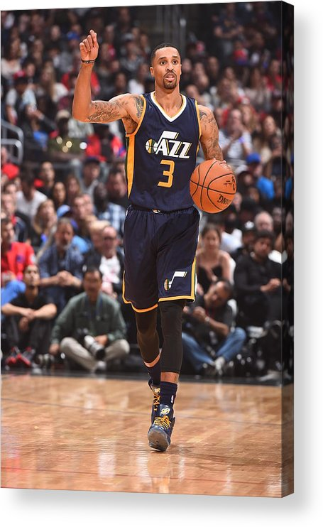 Nba Pro Basketball Acrylic Print featuring the photograph George Hill by Andrew D. Bernstein