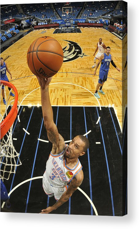 Nba Pro Basketball Acrylic Print featuring the photograph George Hill by Fernando Medina
