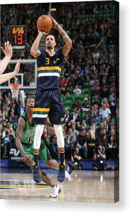 Nba Pro Basketball Acrylic Print featuring the photograph George Hill by Melissa Majchrzak