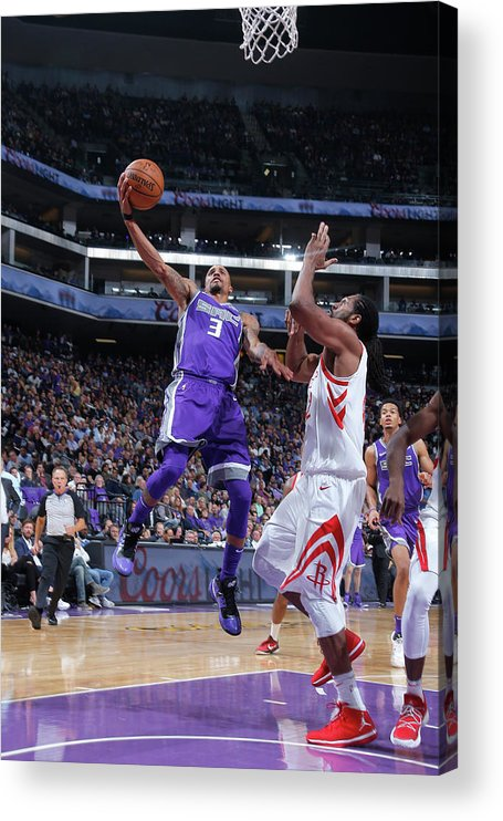 Nba Pro Basketball Acrylic Print featuring the photograph George Hill by Rocky Widner