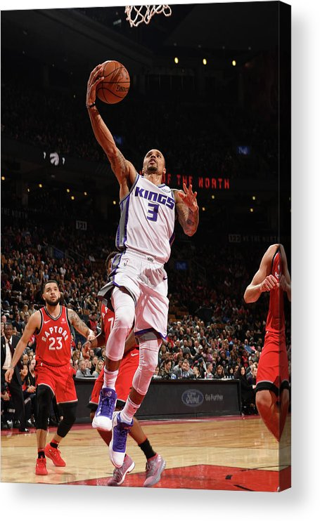 Nba Pro Basketball Acrylic Print featuring the photograph George Hill by Ron Turenne