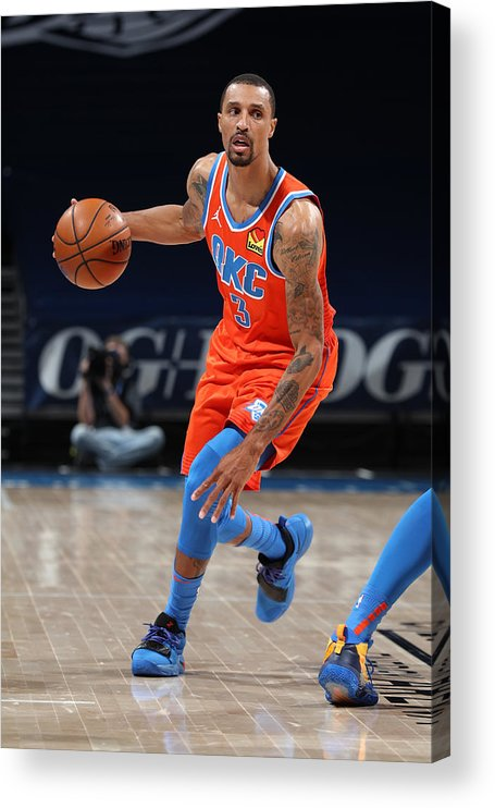 Nba Pro Basketball Acrylic Print featuring the photograph George Hill by Zach Beeker