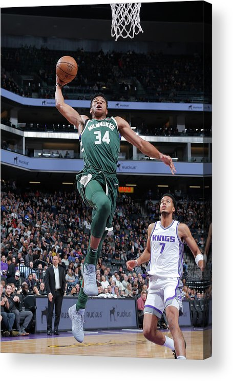 Nba Pro Basketball Acrylic Print featuring the photograph Giannis Antetokounmpo by Rocky Widner