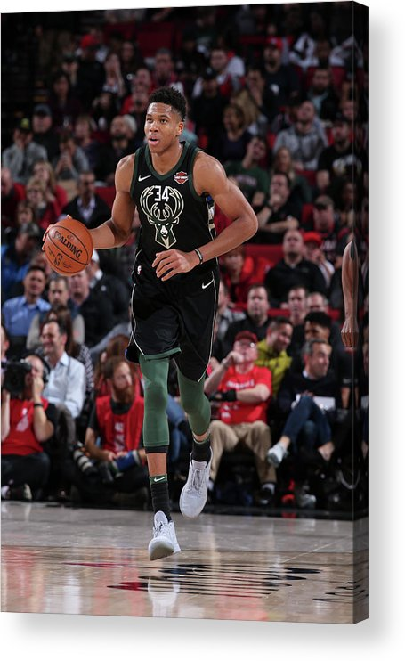 Nba Pro Basketball Acrylic Print featuring the photograph Giannis Antetokounmpo by Sam Forencich