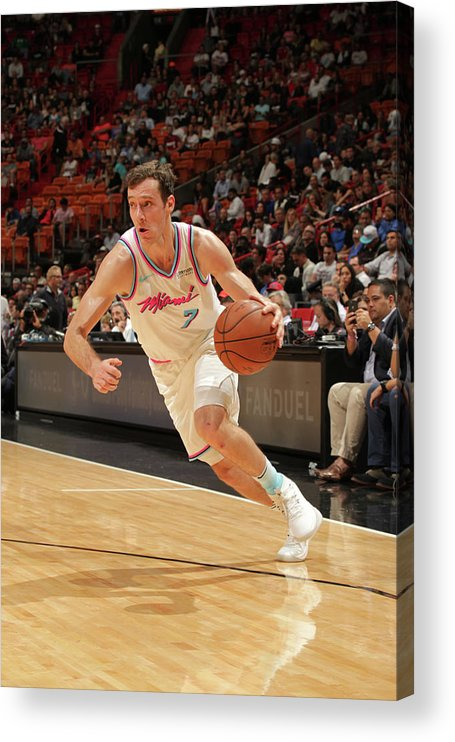 Nba Pro Basketball Acrylic Print featuring the photograph Goran Dragic by Oscar Baldizon