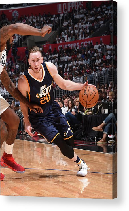 Playoffs Acrylic Print featuring the photograph Gordon Hayward by Andrew D. Bernstein