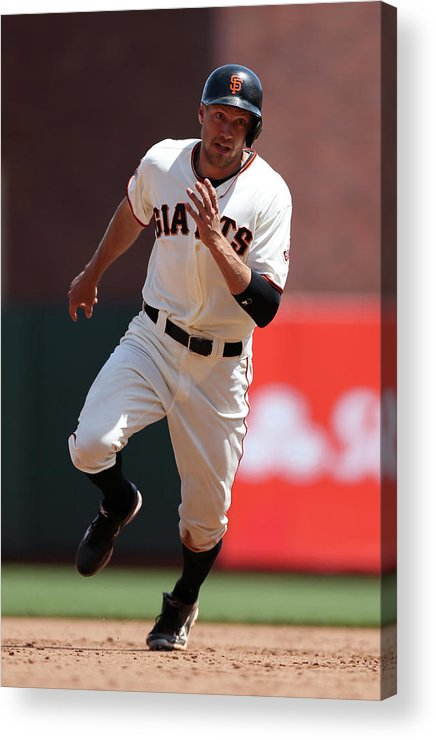 San Francisco Acrylic Print featuring the photograph Hunter Pence by Brad Mangin