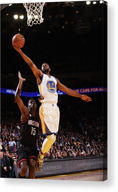 Nba Pro Basketball Acrylic Print featuring the photograph Ian Clark by Noah Graham