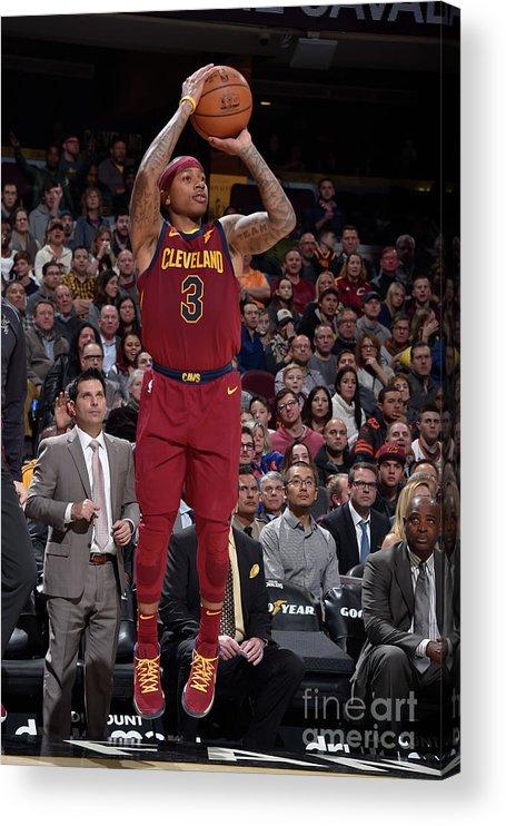Nba Pro Basketball Acrylic Print featuring the photograph Isaiah Thomas by David Liam Kyle
