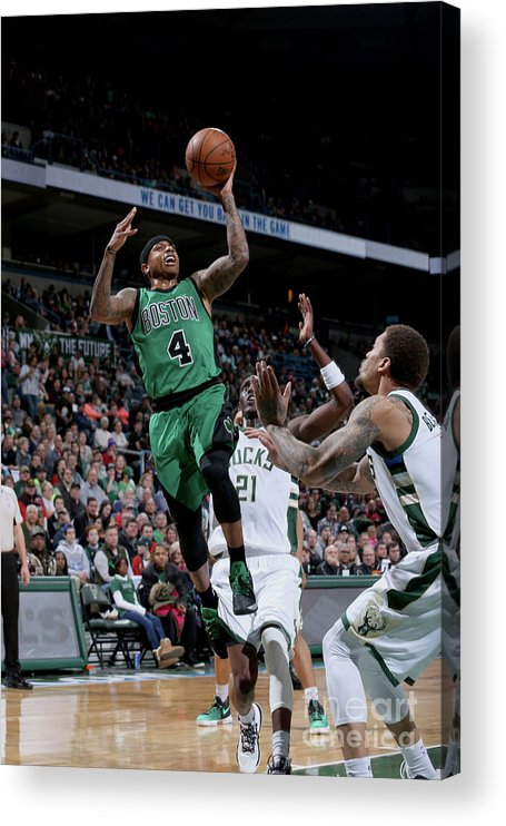 Nba Pro Basketball Acrylic Print featuring the photograph Isaiah Thomas by Gary Dineen