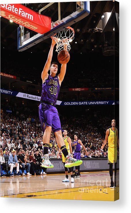 Nba Pro Basketball Acrylic Print featuring the photograph Ivica Zubac by Noah Graham