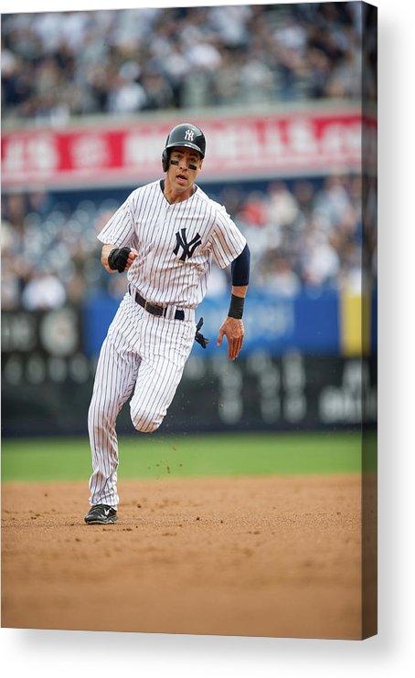 American League Baseball Acrylic Print featuring the photograph Jacoby Ellsbury by Rob Tringali