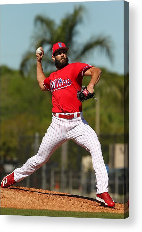 Clearwater Acrylic Print featuring the photograph Jake Arrieta by Icon Sportswire