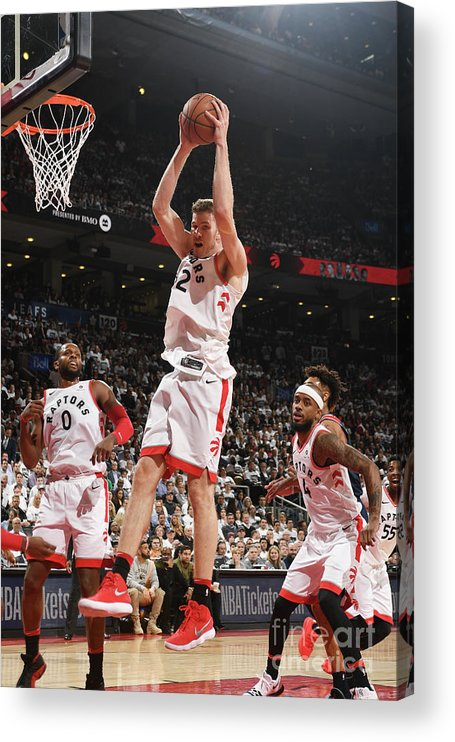 Playoffs Acrylic Print featuring the photograph Jakob Poeltl by Ron Turenne