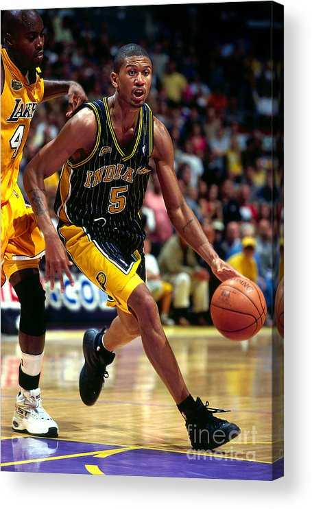 Playoffs Acrylic Print featuring the photograph Jalen Rose by Andy Hayt