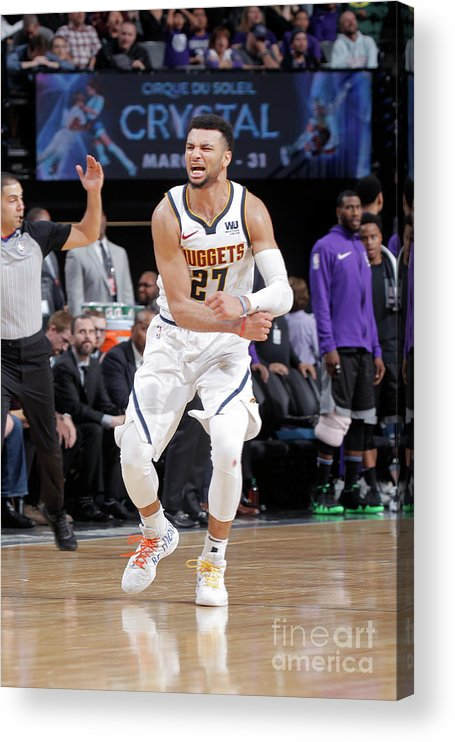 Nba Pro Basketball Acrylic Print featuring the photograph Jamal Murray by Rocky Widner
