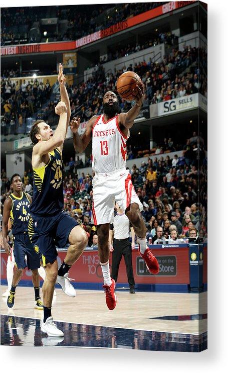 Nba Pro Basketball Acrylic Print featuring the photograph James Harden by Nba Photos