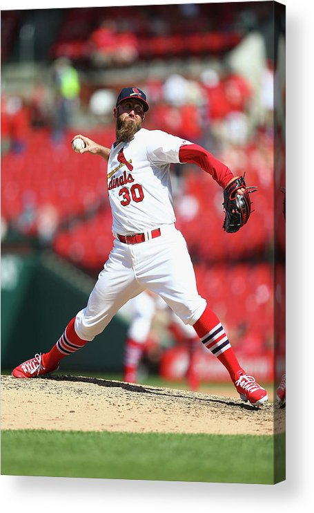 St. Louis Cardinals Acrylic Print featuring the photograph Jason Motte by Dilip Vishwanat