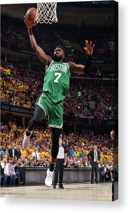 Playoffs Acrylic Print featuring the photograph Jaylen Brown by David Liam Kyle