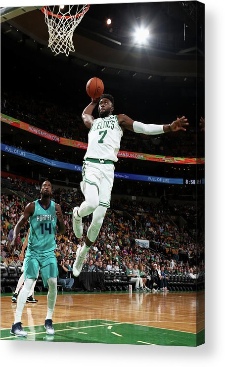 Nba Pro Basketball Acrylic Print featuring the photograph Jaylen Brown by Nathaniel S. Butler
