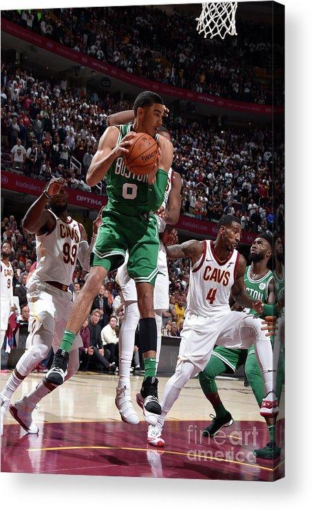 Nba Pro Basketball Acrylic Print featuring the photograph Jayson Tatum by David Liam Kyle