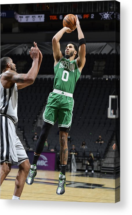 Nba Pro Basketball Acrylic Print featuring the photograph Jayson Tatum by Logan Riely