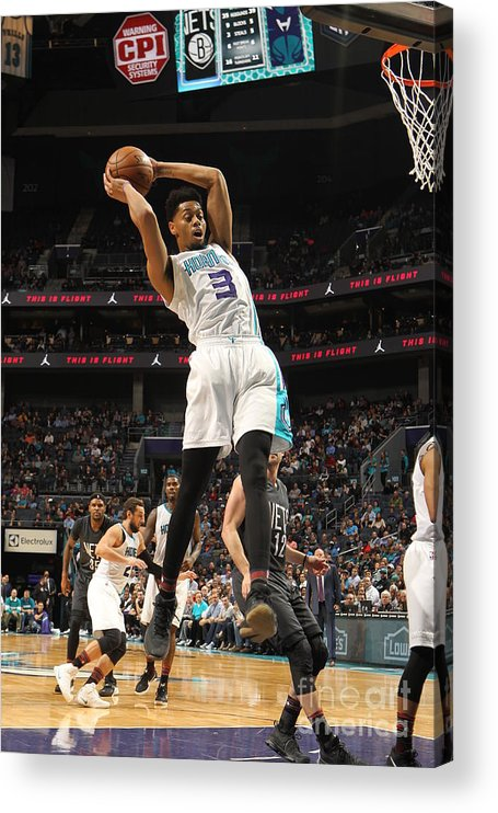 Nba Pro Basketball Acrylic Print featuring the photograph Jeremy Lamb by Brock Williams-smith
