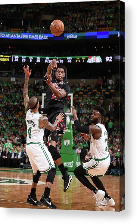 Playoffs Acrylic Print featuring the photograph Jimmy Butler by Brian Babineau