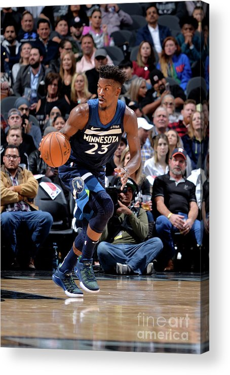 Nba Pro Basketball Acrylic Print featuring the photograph Jimmy Butler by Mark Sobhani